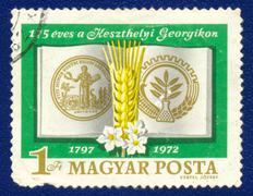 Postage stamp printed in Hungary - stock photo