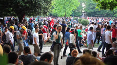 Taksim, Gezi Park Stock Footage
