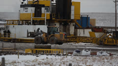 Hydraulic Fracturing Site (Fracking) Stock Footage