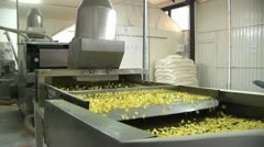 Corn processing factory Stock Footage