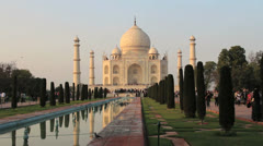 India Taj Mahal view Stock Footage