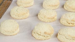 Freshly baked scones Stock Footage