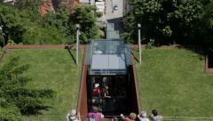 Funicular in Ljubljana town, Slovenia Stock Footage