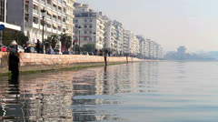 View of Thessaloniki's port Stock Footage