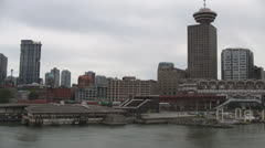 Vancouver, Canada: Leaving Port Time Lapse Stock Footage