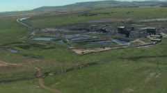 An aerial of coal mine Stock Footage