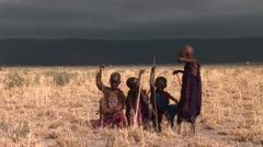 African Children Stock Footage