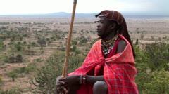 Masai Warrior Stock Footage