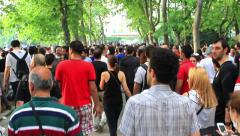 People at Gezi Park Stock Footage