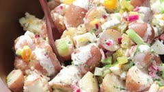 American potato salad Stock Footage