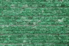wall of stone in green tint - stock illustration