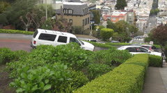 Lombard Street, Russian Hill by day, San Francisco, CA, California, USA Stock Footage