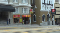 San Francisco cable car by day, CA, California, USA Stock Footage