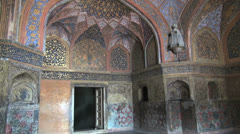 Agra Akbar's tomb interior Stock Footage