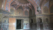 Stock Video Footage of Agra Akbar's tomb interior s