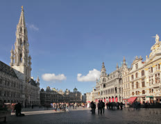 Brussels Grand Place TL A Stock Footage