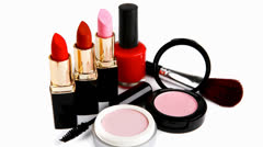 beauty accessories - stock footage