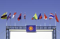 Asean flag Stock Photos