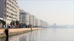 View of Thessaloniki's port - Tilt Shift Stock Footage