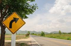 A road sign Stock Photos