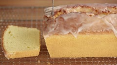 Sliced lemon cake Stock Footage