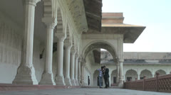 Agra India Red Fort Khas Mahal  Stock Footage