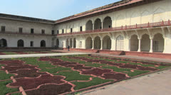 Agra Red Fort Khas Mahal garden  Stock Footage