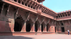 Agra India Red Fort Jahangiri Mahal Stock Footage
