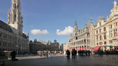 Brussels Grand Place TL B - stock footage