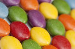 detail of colorful smarties - stock photo