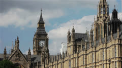Big Ben and the Houses of Parliament, London, UK Stock Footage