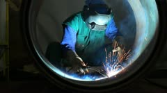 Welder - stock footage