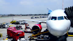 Busy Airport Tarmac 2 Stock Footage