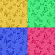 Background with butterflies Stock Illustration