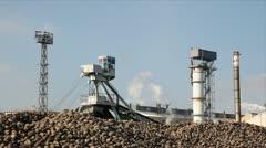 Sugar Beet Processing Stock Footage