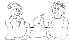 Snowmens mould child, contours Stock Illustration