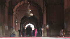 Stock Video Footage of Delhi Friday Mosque archways c1