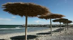Mediterranean beach Stock Footage