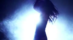 Sexy Nightclub Dancer Stock Footage