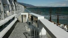 Seaside bar in Greece Stock Footage