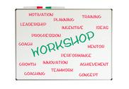 Stock Illustration of workshop word cloud