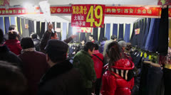 Clothing sold in the market,Special purchases for the chinese Spring Festival Stock Footage