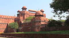 Delhi Red Fort with people  c Stock Footage