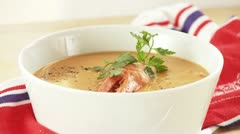 Cream of lobster soup Stock Footage
