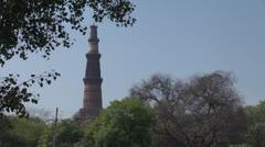 Delhi Qutub Minar s Stock Footage
