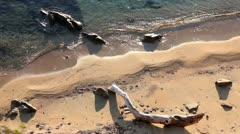 View at Athos beach Stock Footage