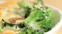 Vegetable gratin - stock footage
