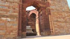 Qutab complex tomb c1 Stock Footage