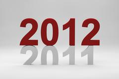 2012 on top of 2011 Stock Illustration