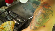 Stock Video Footage of Arm Tattoo